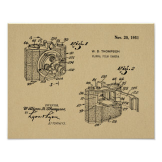 1951 Plural Camera Patent Art Drawing Print