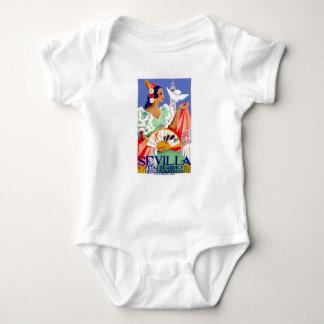 1952 Seville Spain April Fair Poster Baby Bodysuit