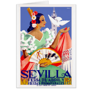 1952 Seville Spain April Fair Poster Card