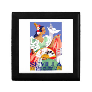 1952 Seville Spain April Fair Poster Gift Box