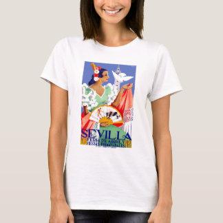 1952 Seville Spain April Fair Poster T-Shirt