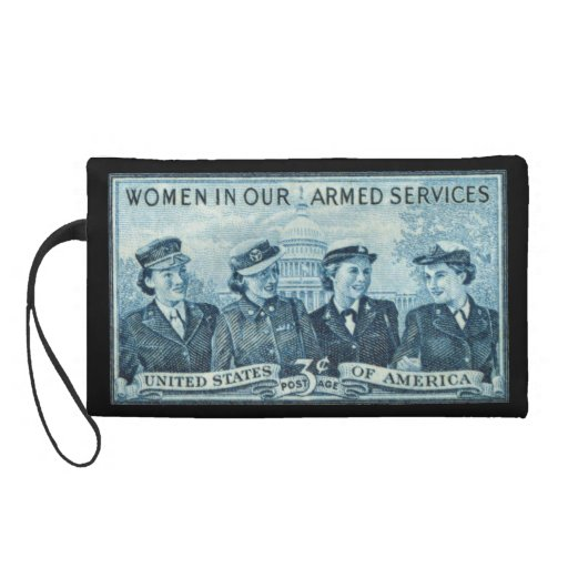 1952 Women in US Armed Services Stamp Wristlet Clutch