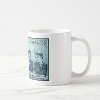 1952 Women in US Armed Services Stamp Coffee Mugs
