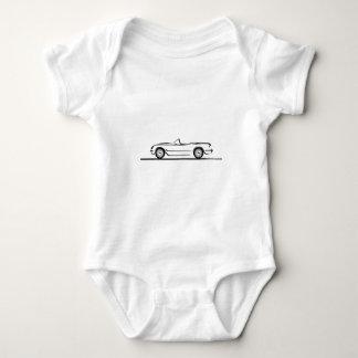 1953 1954 1955 Corvette Baby Bodysuit