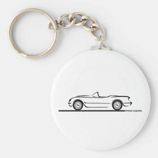 1953 1954 1955 Corvette Basic Round Button Keychain
