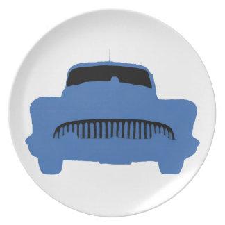 1953 Buick Pop Art Blue Plate