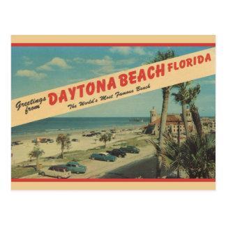 1953 Greetings From Daytona Beach Postcard