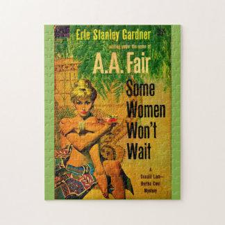 1953 pulp novel cover Some Women Won't Wait Jigsaw Puzzle