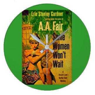 1953 pulp novel cover Some Women Won't Wait Large Clock