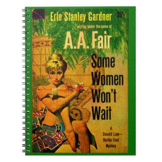 1953 pulp novel cover Some Women Won't Wait Notebook