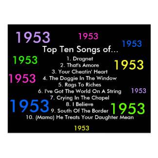1953 Songs Postcard