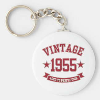 1955 Aged to Perfection Basic Round Button Keychain