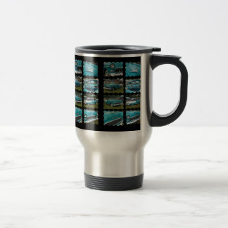 1955 belair collage touquoise and white travel mug