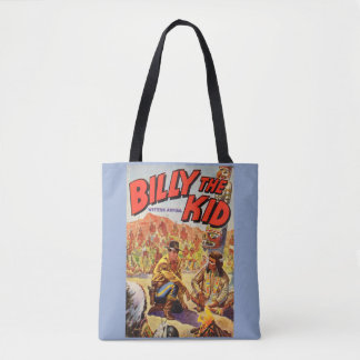 1955 Billy the Kid Western Annual cover print Tote Bag