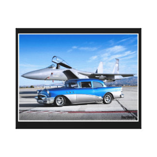 1955 Buick Special Classic Car Fighter Jet Canvas Print