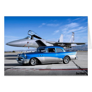 1955 Buick Special Classic Car Fighter Jet Card