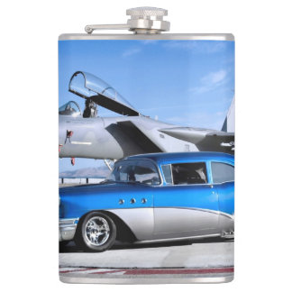 1955 Buick Special Classic Car Fighter Jet Hip Flask