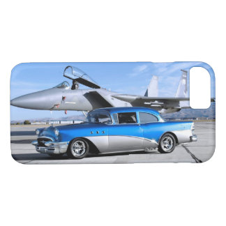 1955 Buick Special Classic Car Fighter Jet iPhone 8/7 Case