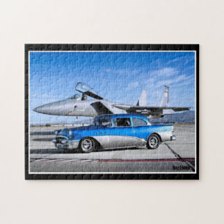 1955 Buick Special Classic Car Fighter Jet Jigsaw Puzzle