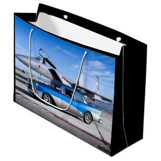 1955 Buick Special Classic Car Fighter Jet Large Gift Bag