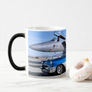 1955 Buick Special Classic Car Fighter Jet Magic Mug