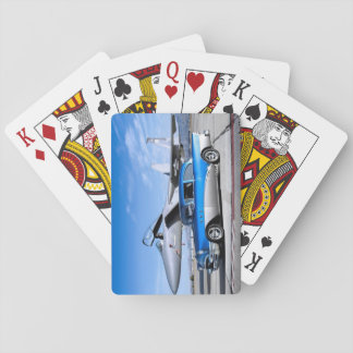 1955 Buick Special Classic Car Fighter Jet Playing Cards