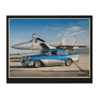 1955 Buick Special Classic Car Fighter Jet Wood Wall Art