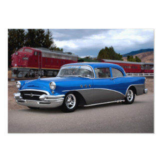"1955 Buick Special Classic Car Invitations 5"" X 7"" Invitation Card"
