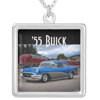 1955 Buick Special Classic Car Silver Necklace