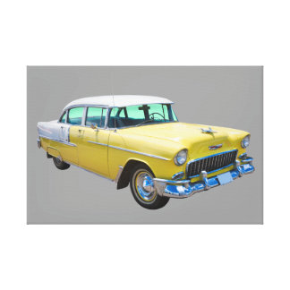 1955 Chevrolet Bel Air Antique Car Canvas Print