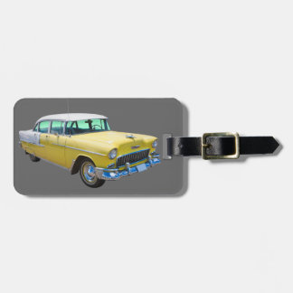 1955 Chevrolet Bel Air Antique Car Luggage Tag