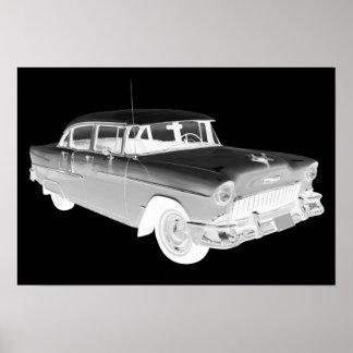 1955 Chevrolet Bel Air Classic Car Art Poster