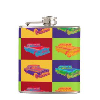 1955 Chevrolet Bel Air Pop Art Hip Flask