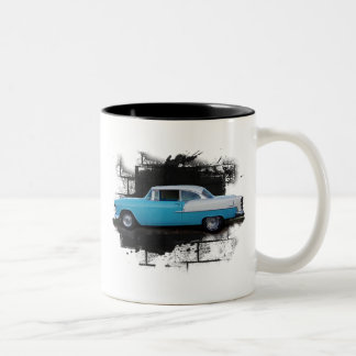 1955 Chevy Bel Air- Classic Car-Mug Two-Tone Coffee Mug