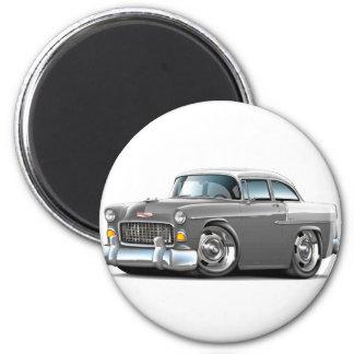1955 Chevy Belair Grey-White Car 2 Inch Round Magnet