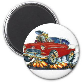 1955 Chevy Belair Maroon Car 2 Inch Round Magnet