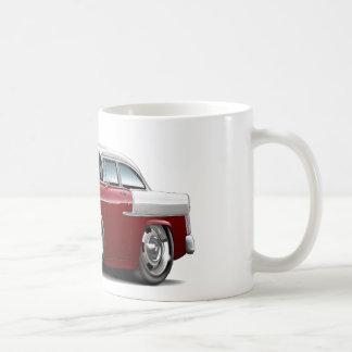 1955 Chevy Belair Maroon-White Car Coffee Mug