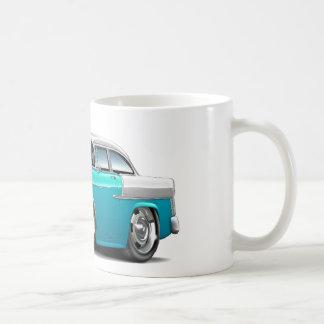 1955 Chevy Belair Turquoise-White Car Coffee Mug