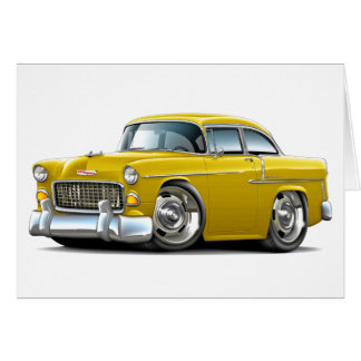 1955 Chevy Belair Yellow Car Card