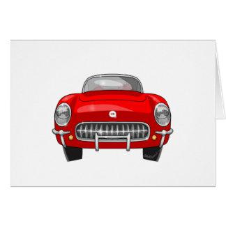 1955 Chevy Corvette Card