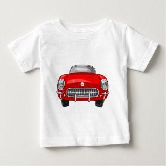1955 Chevy Corvette Front View Baby T-Shirt
