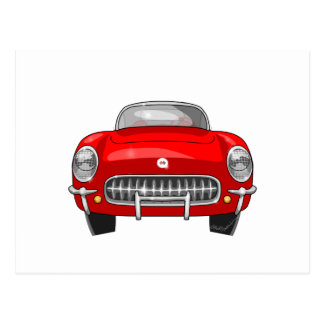 1955 Chevy Corvette Front View Postcard
