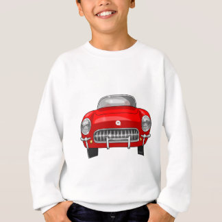 1955 Chevy Corvette Front View Sweatshirt