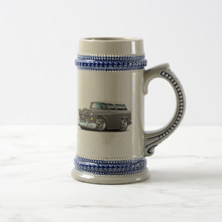 1955 Chevy Nomad Grey-White Car Beer Stein