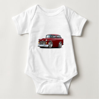 1955 Chevy Nomad Maroon Car Baby Bodysuit