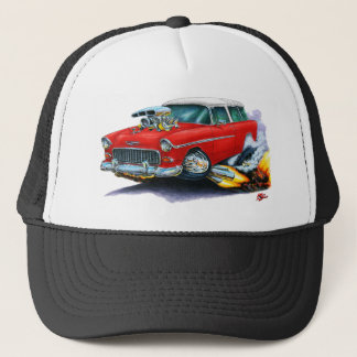 1955 Chevy Nomad Red Car Trucker Hat
