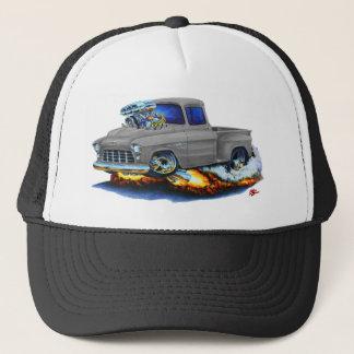 1955 Chevy Stepside Pickup Grey Truck Trucker Hat
