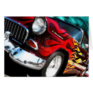 1955 Chevy V6 Hot Rod Card