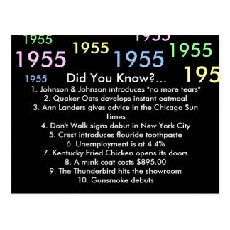 1955 did you know? postcard