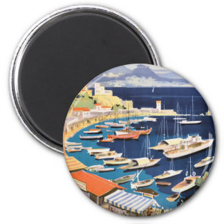 1955 Greece Athens Bay of Castella Travel Poster 2 Inch Round Magnet